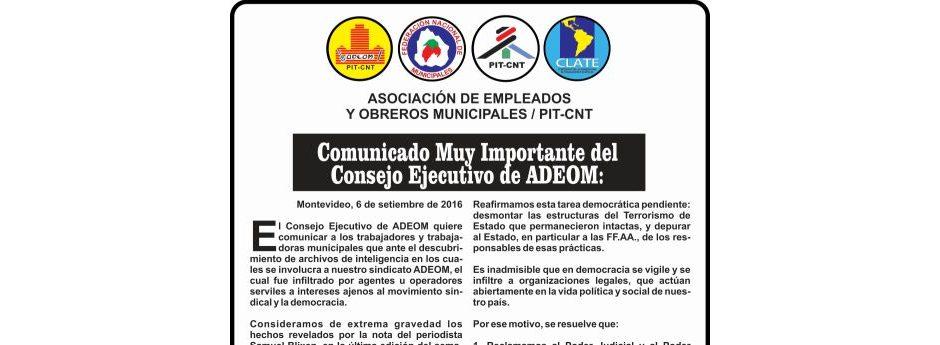 Comunicado Muy Importante del Consejo Ejecutivo de ADEOM